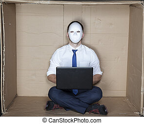 hacker, számítógép, dolgozó