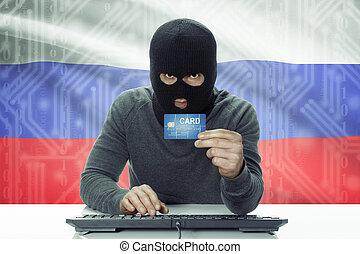 hacker, tło, ciemny-obielany, -, kredyt, bandera, dzierżawa...