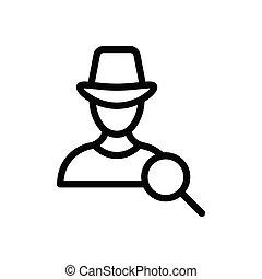 hacker thin line icon