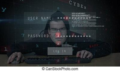 Hacker trying to log in