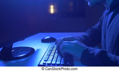 hacker using computer virus for cyber attack - cybercrime,...