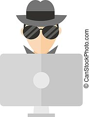 Hacker vector illustration.