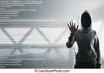 Hacking and password concept