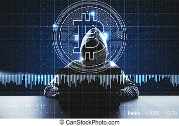 Cryptocurrency and malware concept