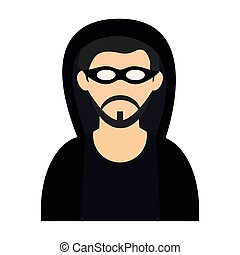Hacker with mask avatar