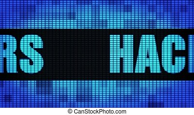 Hackers Hackers Text Scrolling LED Wall Pannel Display Sign...