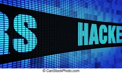 Hackers Side Text Scrolling LED Wall Pannel Display Sign...
