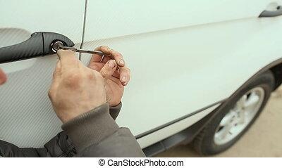 Hacking a car door