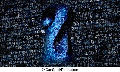 Hacking data. Hacking and stealing information. - Hacking ...