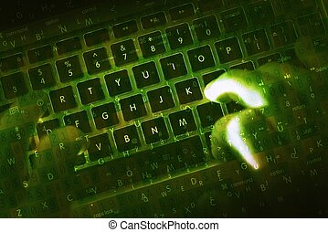 Hacking Hacker Green Concept