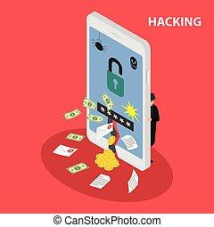 Hacking smartphone database.