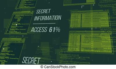 Hacking the Secret information database via the Internet....