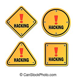 hacking - warning sign