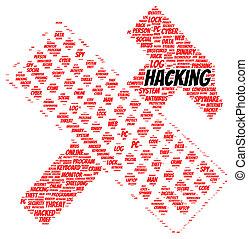 Hacking word cloud shape