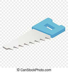 Hacksaw isometric 3d icon