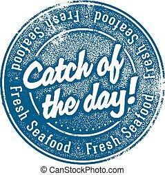 haczyk, świeży seafood, stam, dzień