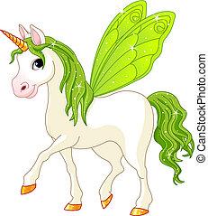 hada, cola, caballo verde