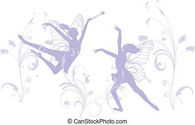 hadas, bailando
