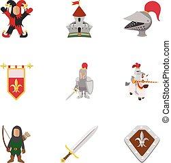 hadi, középkor, ikonok, állhatatos, karikatúra, mód