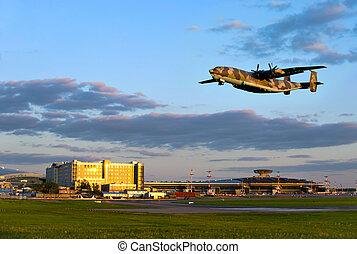 hadi, repülőgép, szállít
