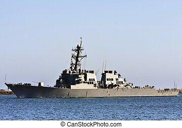 haditengerészet, harc, hajó, bennünket