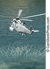 haditengerészet, király, tenger, helikopter