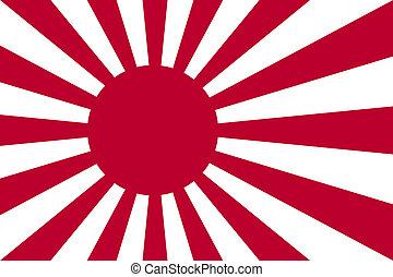 haditengerészet, nemzeti zászló, japán