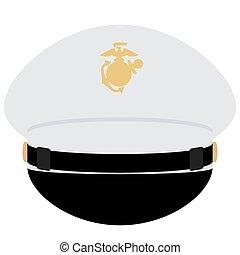 haditengerészet, sapka, tiszt, bennünket