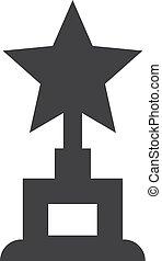 hadizsákmány, csillag, ábra, háttér., vektor, fekete, fehér, ikon