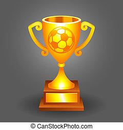 hadizsákmány, labda, arany, bacground, csésze, futball