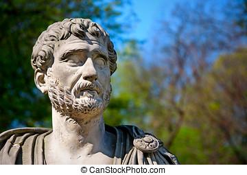 Hadrian Portrait - Bust of Roman Emperor - The XIX copy...
