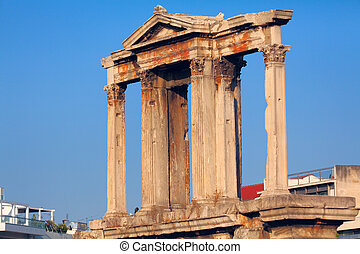 Hadrian´s Arch, in the back Acropolis, Athens, Greece