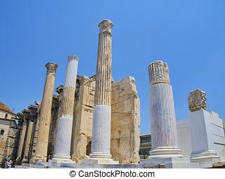 Hadrian's Library. Athens, Attica region, Greece. -...