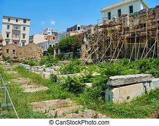 Hadrian's Library. Athens, Attica region, Greece. - East...
