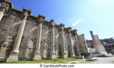 Hadrian's Library in Acropolis Athens Greece