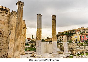 Hadrian's Library Monastiraki Square Agora Acropolis Athens...