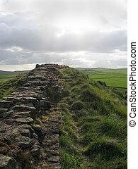 Hadrian\\\'s Wall - Hadrian\\\'s Roman Wall, Northumberland,...