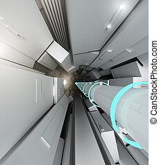 Hadron collider tunnel
