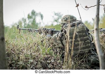 hadsereg, övé, hívás