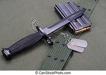 hadsereg, bajonett, bennünket, egyenruha