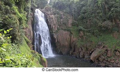 Haew Narok Waterfall in Khao Yai National Park Thailand
