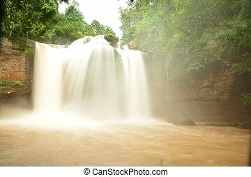 Haew Suwat Waterfall in Kao Yai Nation park of Thailand...