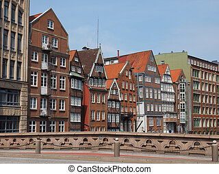 HafenCity in Hamburg - HafenCity quarter in the district of...