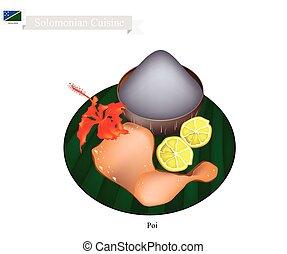 haferbrei, solomonian, traditionelle , suppe, poi, oder