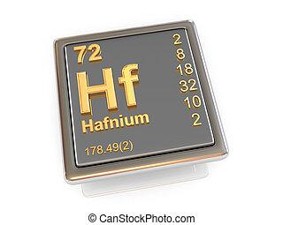 Hafnium. Chemical element.