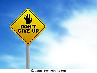 haga no, elasticidad, arriba, signo amarillo, camino