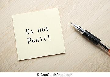 haga, no, pánico