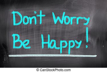 haga no, ser, concepto, preocupación, feliz