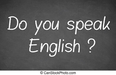 haga, usted, hablar, inglés, -, manuscrito