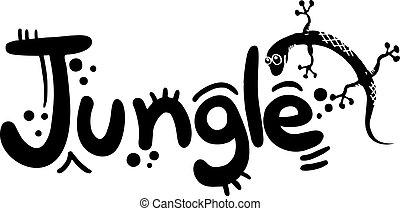 hagedis, jungle